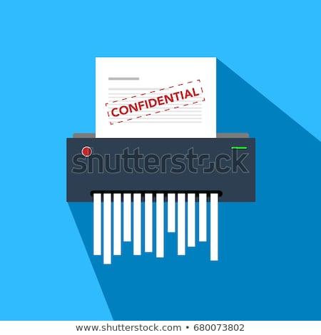 papír · iratmegsemmisítő · nő · köteg · üzlet · igazgató - stock fotó © jayfish