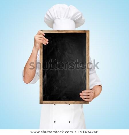 若い男 · 隠蔽 · 後ろ · ホワイトボード · 白 · 男 - ストックフォト © feedough