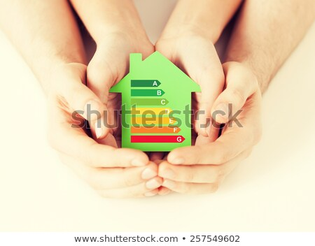 energy efficiency rating and house showing conservation stock photo © stuartmiles
