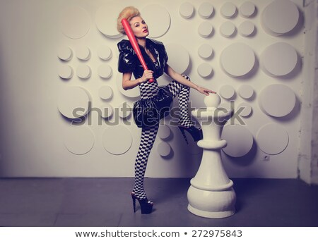 Woman in Halloween costume with a baseball  bat Stock photo © pxhidalgo