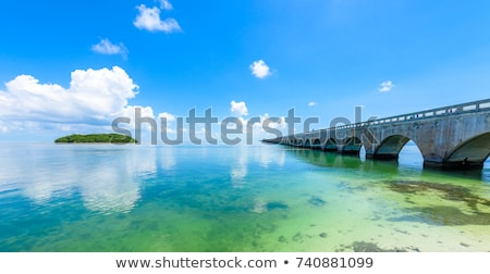 seven mile historic bridge florida keys florida usa stock photo © phbcz