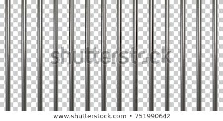 hapis · bar · kafes · çelik · çubuklar · kapı - stok fotoğraf © konturvid