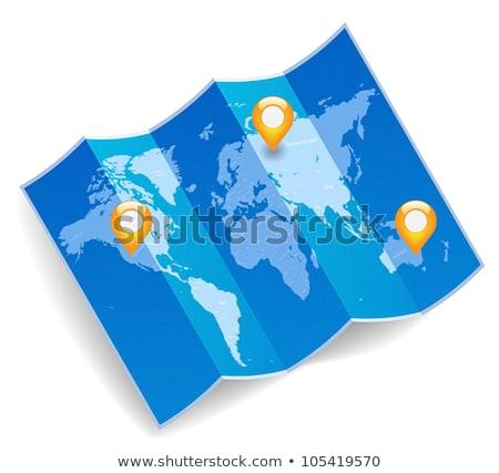 сложенный Мир карта GPS мира карта дизайна Сток-фото © m_pavlov