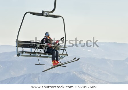 Ski ascenseur soutien acier ciel nature Photo stock © janhetman