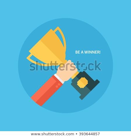Dizayn ikon kazanan fincan el iyi Stok fotoğraf © Elmiko