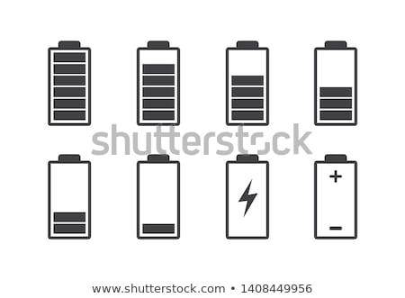 バッテリー レベル セット デザイン 技術 にログイン ストックフォト © kiddaikiddee