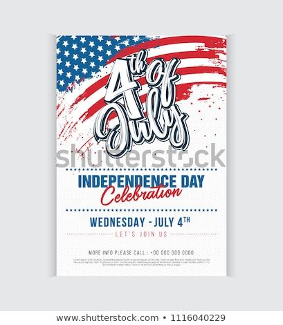 стилизованный · американский · флаг - Сток-фото © pathakdesigner