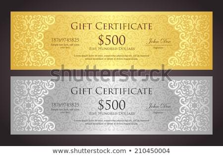 роскошь · Подарочный · сертификат · Vintage · стиль · эксклюзивный - Сток-фото © liliwhite
