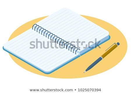 学校 ノートブック 白 ペン 学生 ストックフォト © Studio_3321