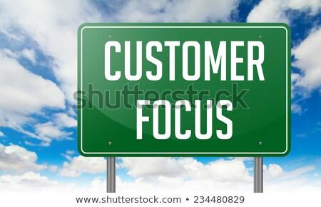 Customer Management on Green Highway Signpost. Stock photo © tashatuvango