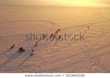 snow mobile in the sun on a glacier Stock photo © Hofmeester