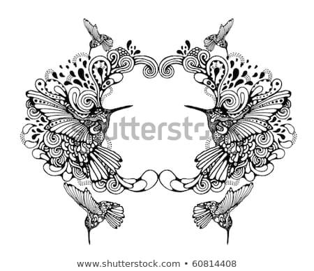 Vecteur originale art oiseau silhouettes ensemble Photo stock © tiKkraf69