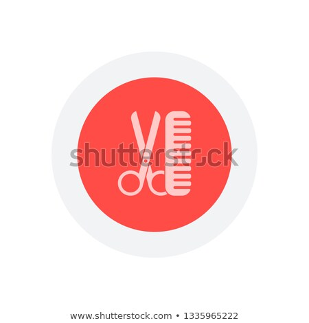 Simple hairbrush symbol in vector gray color Stock photo © aliaksandra