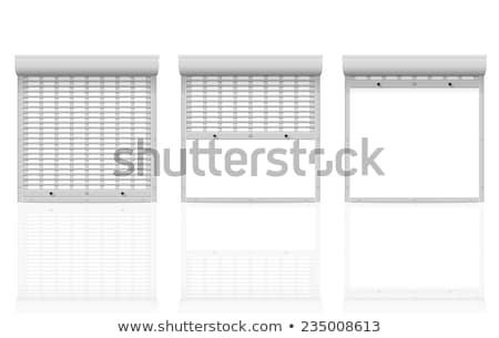 metal · isolato · bianco · abstract · porta - foto d'archivio © konturvid