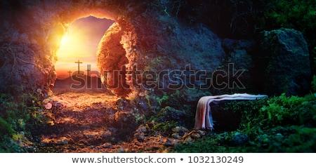 Jezusa Chrystusa święty krzyż Wielkanoc drewna Zdjęcia stock © nito