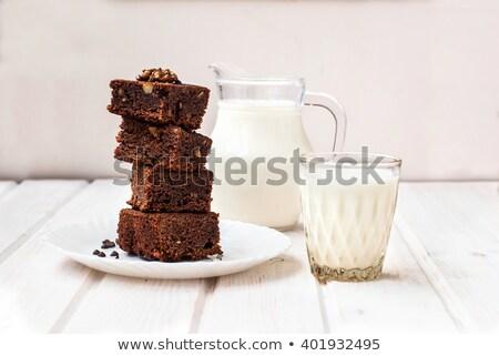 milk and brownies Stock photo © M-studio