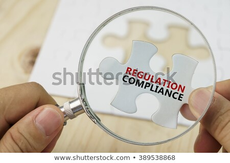 Compliance on Red Puzzle. Stock photo © tashatuvango