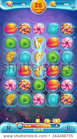 Aplicativo jogo ícone esmeralda isolado branco Foto stock © arlatis