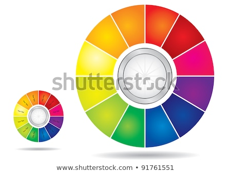 düzenlenebilir · renk · tekerlek · şablon · oklar · kopyalamak - stok fotoğraf © eltoro69