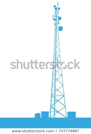 Modern radio transmitter isolated on white background Stock photo © ozaiachin
