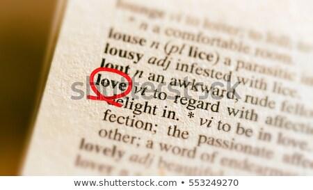 definition of love Stock photo © nelsonart