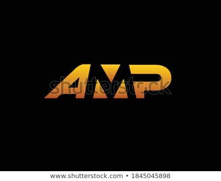Amp nero metallico orizzontale immagine Foto d'archivio © Koufax73
