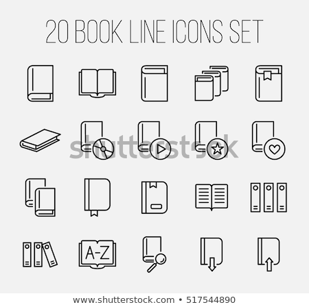 File bookmark simple icon on white background. Stock photo © tkacchuk