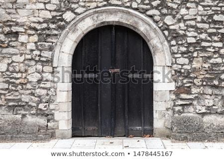 Middeleeuwse deur gedetailleerd kerk gothic Stockfoto © FER737NG