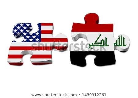 USA · Irak · flagi · puzzle · wektora · obraz - zdjęcia stock © istanbul2009