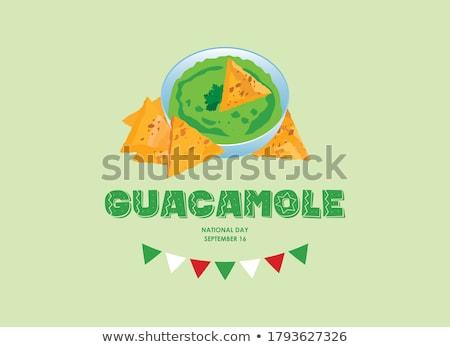 чаши плоская маисовая лепешка чипов Ингредиенты цвета Сток-фото © Kayco