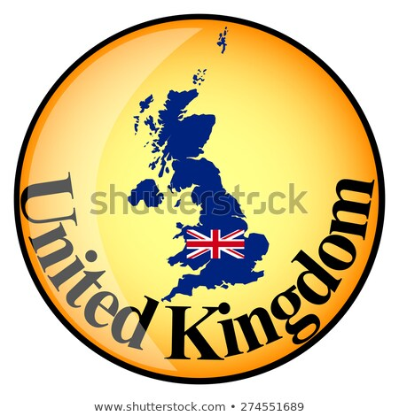 orange button with the image maps of united kingdom stock photo © mayboro
