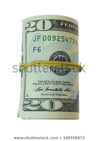Tekert 20 dollár gumi izolált fehér Stock fotó © ozgur