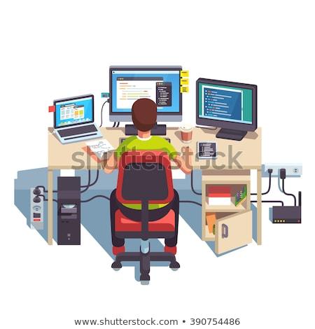мощный рабочая станция стилизованный программированию математический дизайна Сток-фото © tracer