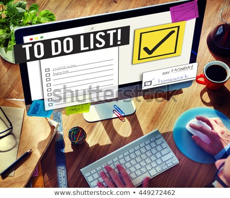Time management businessman gadgets business concept Stock photo © studiostoks