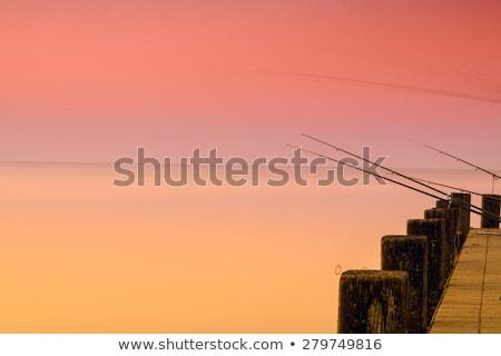 Belle coucher du soleil lac Balaton ciel eau Photo stock © Fesus