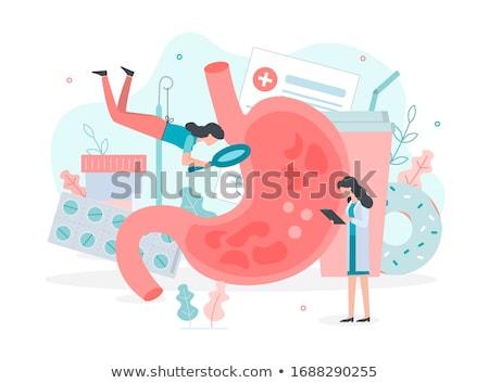 Diagnóstico ácido médico turva texto estetoscópio Foto stock © tashatuvango