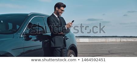 Сток-фото: человека · автомобилей · глядя · улыбка · улице · лет