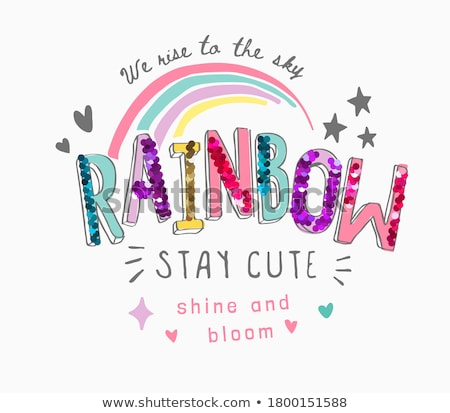 Hearts and rainbows with sequins Stock photo © adamfaheydesigns