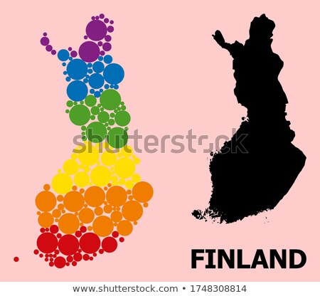Finlandia gej Pokaż kraju duma banderą Zdjęcia stock © tony4urban