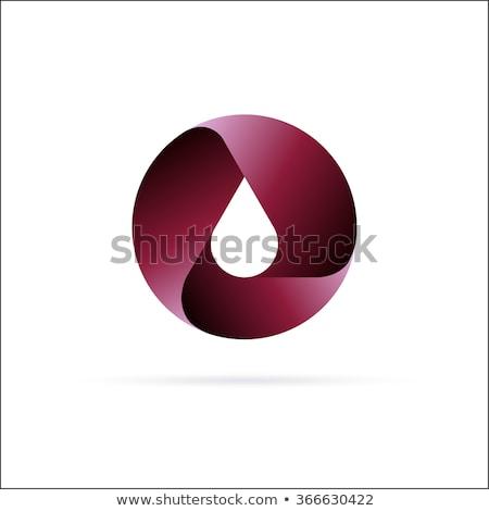 olie · drop · logo · geïsoleerd · witte · realistisch - stockfoto © tracer