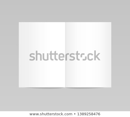 Open blank paper booklet Stock photo © cherezoff