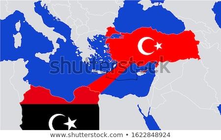 Ливия стране флаг карта форма текста Сток-фото © tony4urban