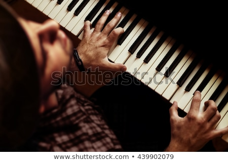 keyboarder is playing and singing stock photo © paha_l