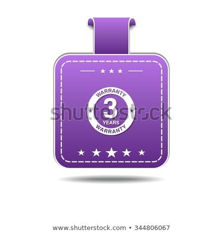 Photo stock: Ans · garantie · violette · vecteur · icône · design