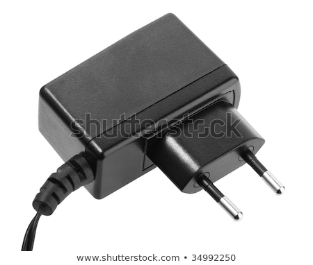 Black  adapter. New condition. Close-up. Isolated Stock photo © shutswis