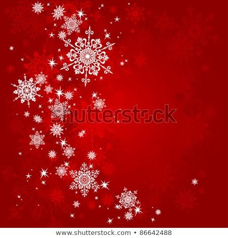 Rouge résumé beauté Noël version flocons de neige Photo stock © Valeriy