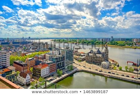 rivier · kerk · stad · straat · stedelijke · architectuur - stockfoto © dinozzaver