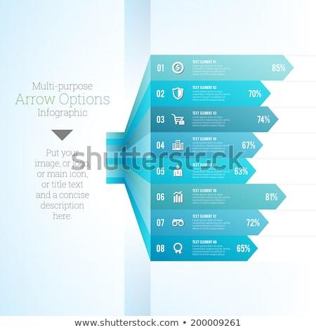 Propósito infografía vector plantilla de diseño infografía banner Foto stock © rizwanali3d