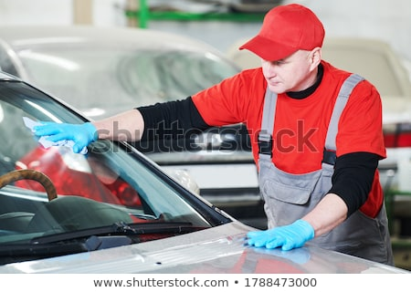 Reparatie tool lijm bouw werk oranje Stockfoto © shutswis