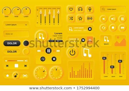 Imagem interface multimídia mão empresário Foto stock © wavebreak_media